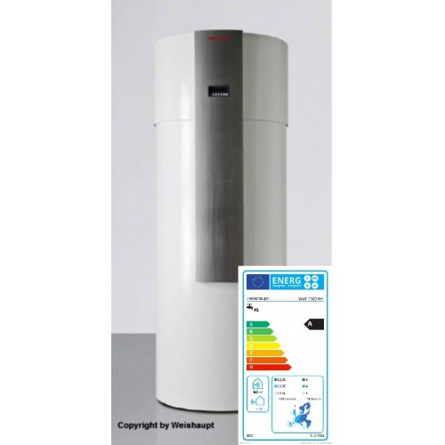 Weishaupt Warmwasser Wärmepumpe mit Zusatzwärmetauscher und Abtaufunktion (Niedertemperatur), Typ WWP T 300 WA, Art.51141001