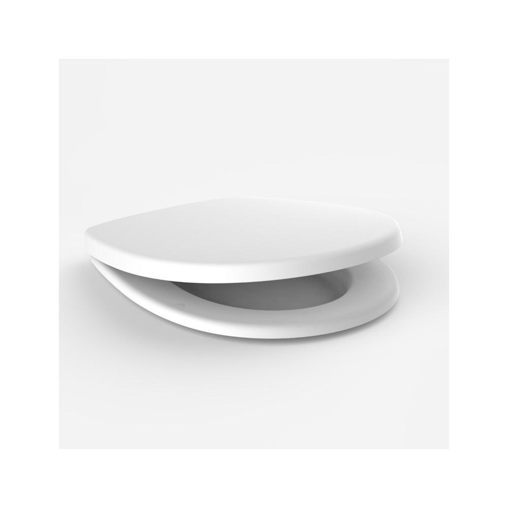 wc sitz sanit 3000 mit deckel und d mpfungsscharnier geschraubt. Black Bedroom Furniture Sets. Home Design Ideas