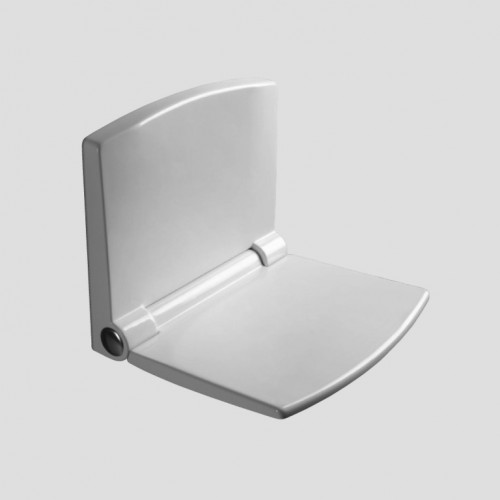 Duschsitz, Duschklappsitz, Duschwandsitz, Lifestyle, weiss, antibakteriell m.Absenkautomatik