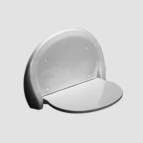 Wandklappsitz, Duschklappsitz, Duschsitz, für Dusche, weiß