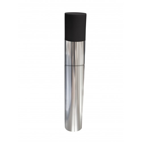 TTC Abgas Ersatzmündungsrohr mit Kunststoffeinsteckende DN 60, Edelstahl, Länge 400 mm