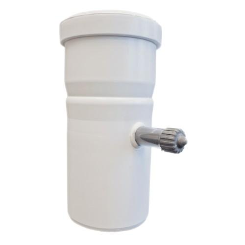 TTC Abgas Rohrelement DN 60 mit Messelement/Kesselanschluss
