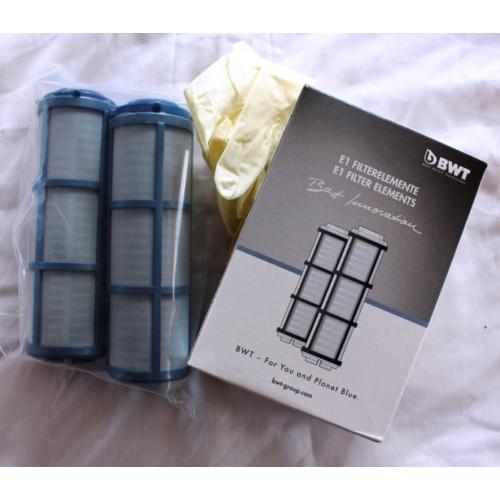 E1 Filterelement, (2er Pack), für Einhebelfilter E1, Ersatzfilter, BWT E1 Filterelement