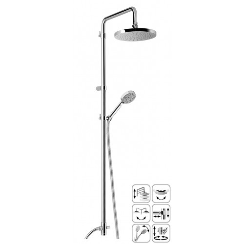Duschsystem, Brausearmatur, Brausezubehör, Dusche, Brauseaufsatz-System AP